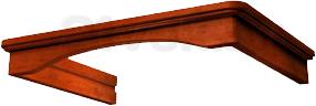 Комплект багетов для вытяжки KRONAsteel CPB/G1/3 (Dark Walnut) - общий вид (цвет уточняйте при заказе)