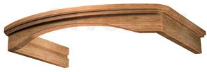 Комплект багетов для вытяжки KRONAsteel Gretta 60 CPB/1 (Light Oak) - общий вид (цвет уточняйте при заказе)