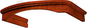 Комплект багетов для вытяжки KRONAsteel Gretta 60 CPB/3 (Dark Walnut) - общий вид (цвет товара уточняйте при заказе)