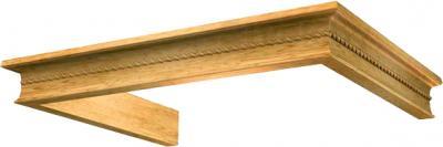 Комплект багетов для вытяжки KRONAsteel Beatris 60 CPB/1 (Light Oak) - общий вид (цвет товара уточняйте при заказе)