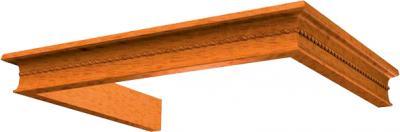Комплект багетов для вытяжки KRONAsteel Beatris 60 CPB/5 (Light Cherry) - общий вид (цвет уточняйте при заказе)