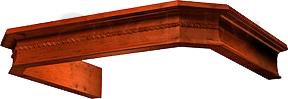 Комплект багетов для вытяжки Krona Serena 60 CPB/3 / 00015143 (темный орех) - общий вид (цвет товара уточняйте при заказе)