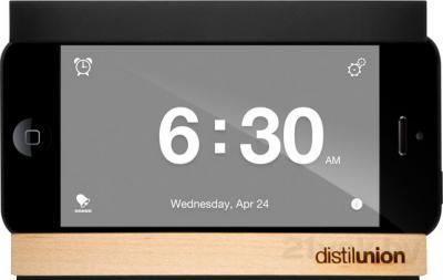 Док-станция для смартфона Distil Union Snooze (Black) - фронтальный вид