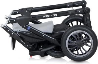Детская универсальная коляска Expander Mondo Black Line 2 в 1 (Violet) - в сложенном виде
