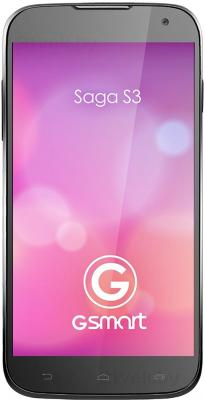 Смартфон Gigabyte GSmart Saga S3 (черный) - общий вид