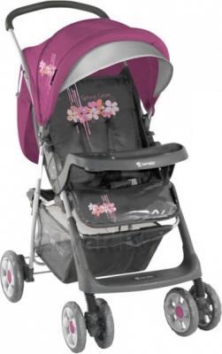 Детская прогулочная коляска Lorelli Star (Gray-Pink Spring) - общий вид
