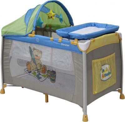 Кровать-манеж Lorelli Dreamer 2 Layers Plus (Teddy Bear) - общий вид