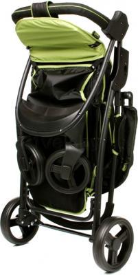 Детская прогулочная коляска 4Baby Rapid (зеленый) - в сложенном виде