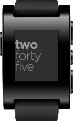 Интеллектуальные часы Pebble Technology Smartwatch (Black) - фронтальный вид