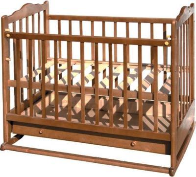 Детская кроватка Эстель 6 (Орех) - общий вид