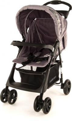 Детская прогулочная коляска Lider Kids B110 (Blue-Gray) - вид спереди (цвет серый)