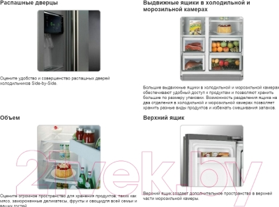 Холодильник с морозильником Samsung RSA1STWP1/BWT