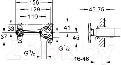 Встроенный механизм смесителя GROHE 23200000