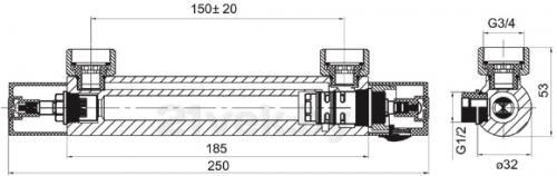 Смеситель Ferro TEM7 - схема