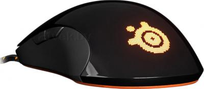 Мышь SteelSeries Sensei RAW Heat Orange (62163) - вид сзади