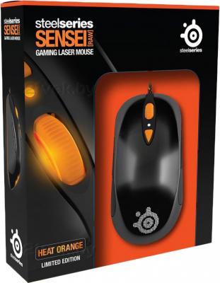 Мышь SteelSeries Sensei RAW (оранжевый) - вид в упаковке