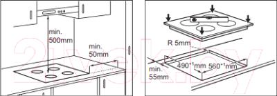 Электрическая варочная панель Electrolux EHF56343FK