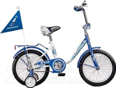Детский велосипед Stels Pilot 110 (16, белый/синий)