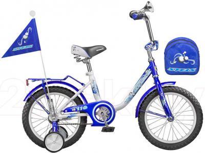 Детский велосипед Stels Pilot 110 (16, Blue-White) - общий вид