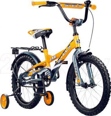 Детский велосипед Stels Pilot 140 (16, Orange-Gray) - общий вид