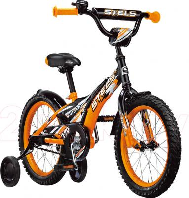Детский велосипед Stels Pilot 170 (16, Black-Yellow) - общий вид