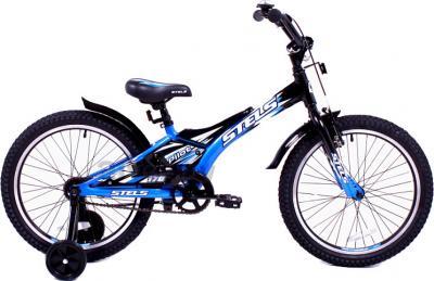 Детский велосипед Stels Pilot 170 (16, Black-Blue) - общий вид