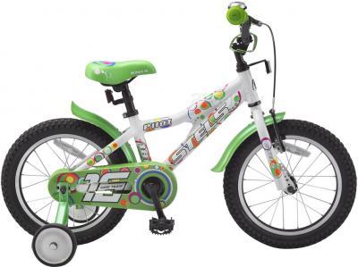 Детский велосипед Stels Pilot 180 (16, White-Green) - общий вид