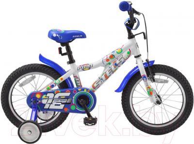 Детский велосипед Stels Pilot 180 (16, White-Blue) - общий вид