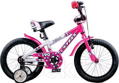 Детский велосипед Stels Pilot 190 (16, Pink-White) - общий вид