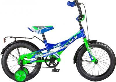Детский велосипед Stels Pilot 140 (18, Blue-Green) - общий вид