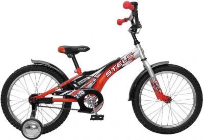Детский велосипед Stels Pilot 170 (18, серебристо-красный) - общий вид