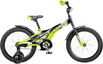 Детский велосипед Stels Pilot 170 (18, черно-зеленый) - общий вид