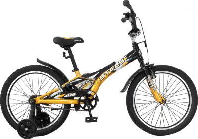 Детский велосипед Stels Pilot 170 (18, Black-Gold) - общий вид