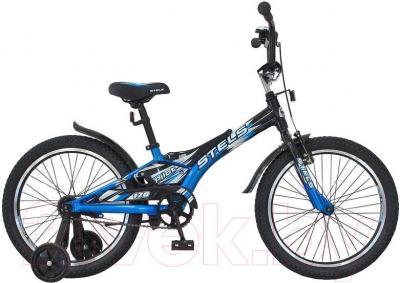 Детский велосипед Stels Pilot 170 (20, Black-Blue) - общий вид