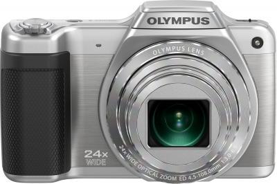 Компактный фотоаппарат Olympus SZ-15 (серебристый) - вид спереди