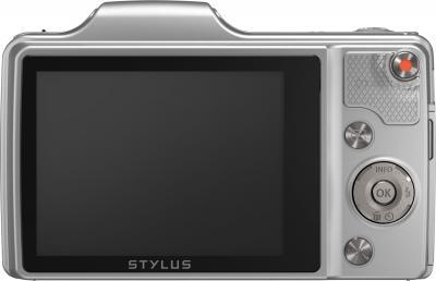 Компактный фотоаппарат Olympus SZ-15 (серебристый) - вид сзади