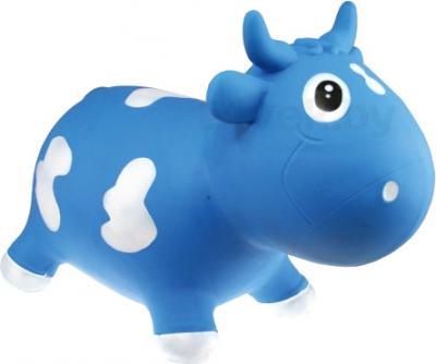 Игрушка-прыгун KidzzFarm Коровка Белла (голубая с белым) - общий вид