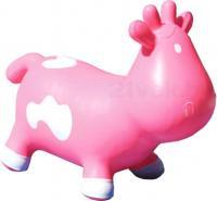 Игрушка-прыгун KidzzFarm Коровка Бетси (розовая с белым) -