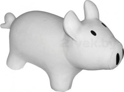 Игрушка-прыгун KidzzFarm Поросенок Сэмми (белая с черным) - общий вид
