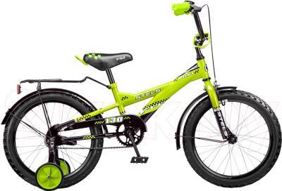 Детский велосипед Stels Pilot 130 (18, Black-Green) - общий вид