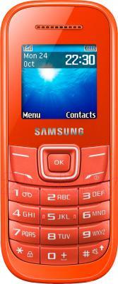 Мобильный телефон Samsung E1200 (оранжевый) - общий вид