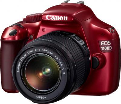 Зеркальный фотоаппарат Canon EOS 1100D Kit 18-55mm IS II (Red) - общий вид