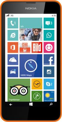 Смартфон Nokia Lumia 630 Dual (оранжевый) - общий вид