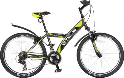 Велосипед Stels Navigator 410 (Gray-Green) - общий вид