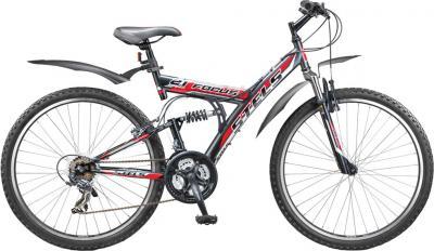 Велосипед Stels Focus 21 СК (черно-серо-красный) - общий вид