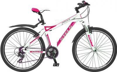 Велосипед Stels Miss 8100 (17, бело-розовый) - общий вид