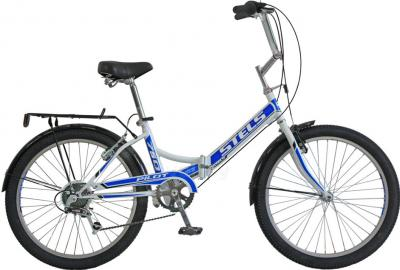 Велосипед Stels Pilot 750 (White-Blue) - общий вид