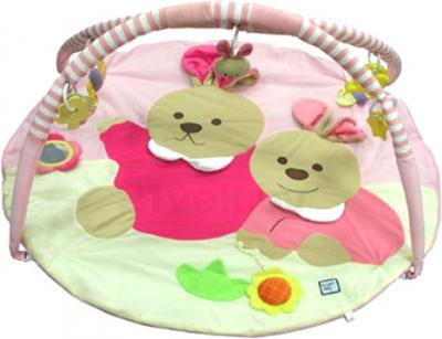 Развивающий коврик Baby Mix ТК/3163С (Зайки розовые) - общий вид