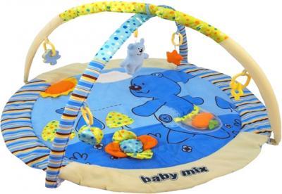 Развивающий коврик Baby Mix ТК/3240С (Плюшевый мишка голубой) - общий вид