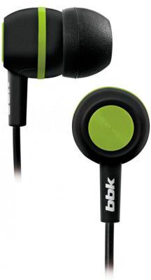 Наушники BBK EP-1230S (Black-Green) - общий вид